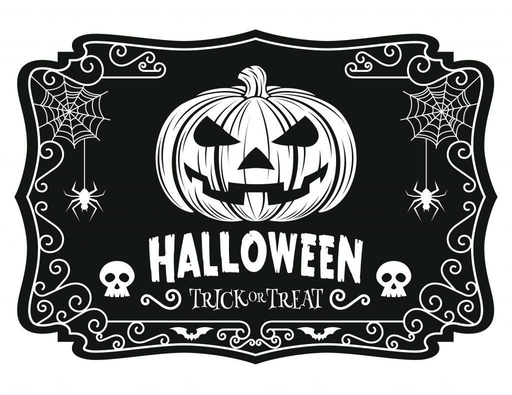 dessin à imprimer Halloween trick or treat