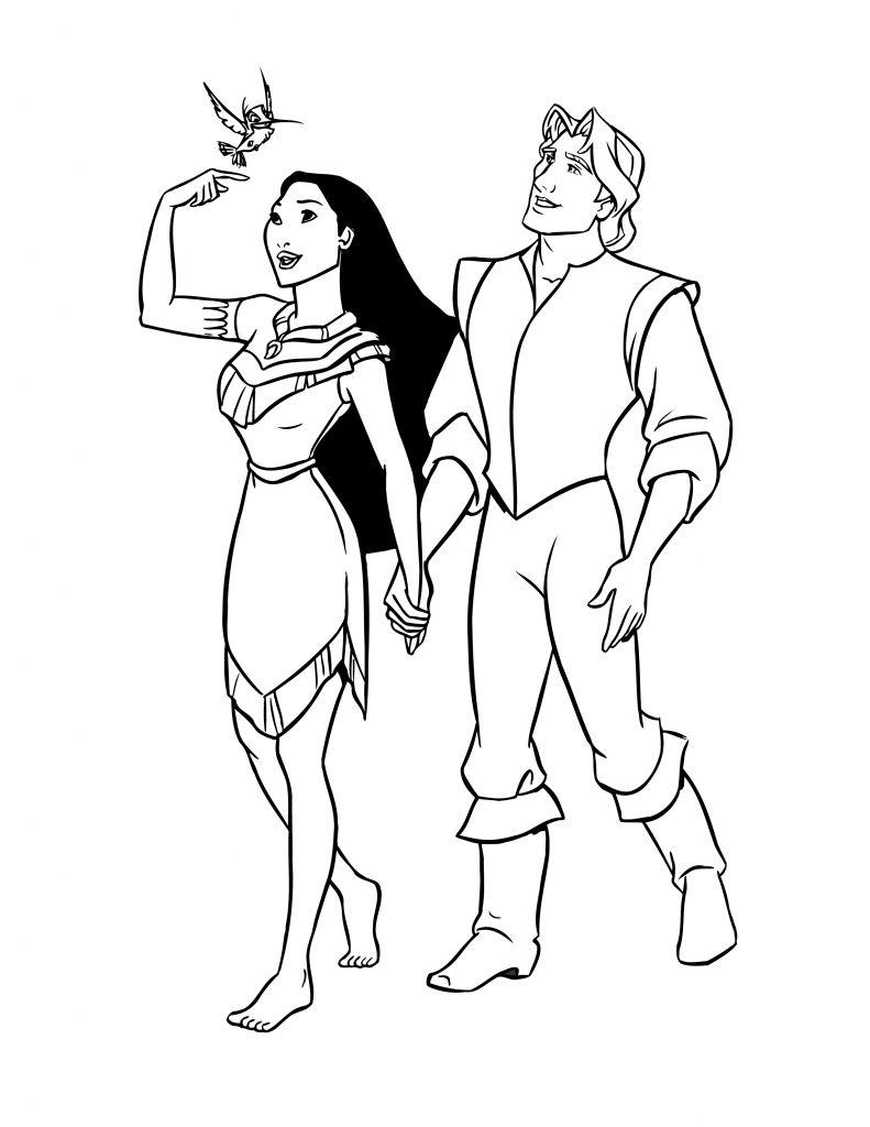 Coloriage Gratuit Imprimer Princesse.Coloriage De Disney Pocahontas Princesse A Imprimer