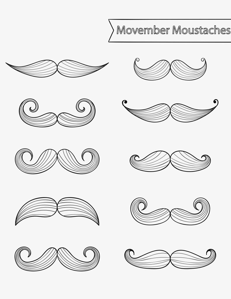Moustache movember canada en novembre - Moustache dessin ...