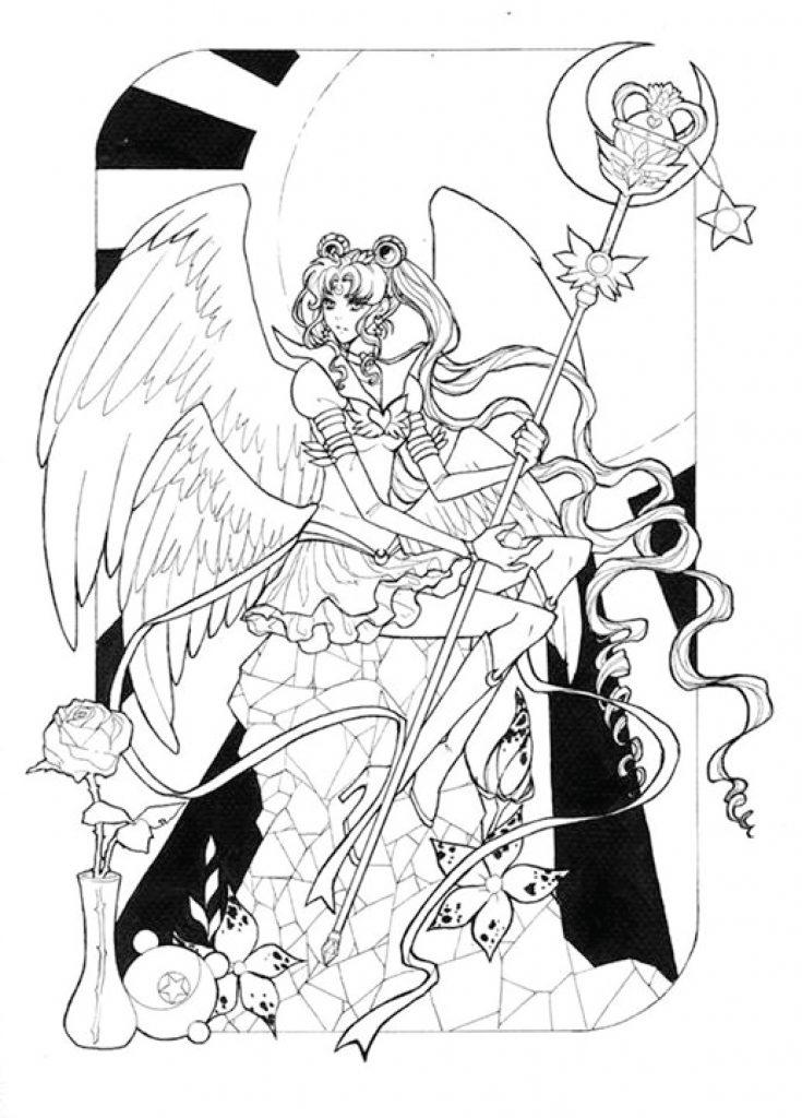 dessin à colorier Sailor Moon par Dar-Chan