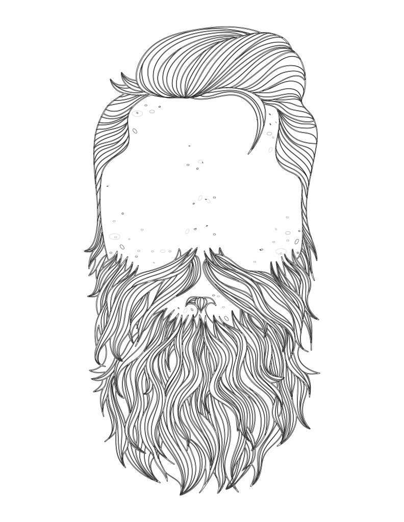 coloriage beard november prostate cancer