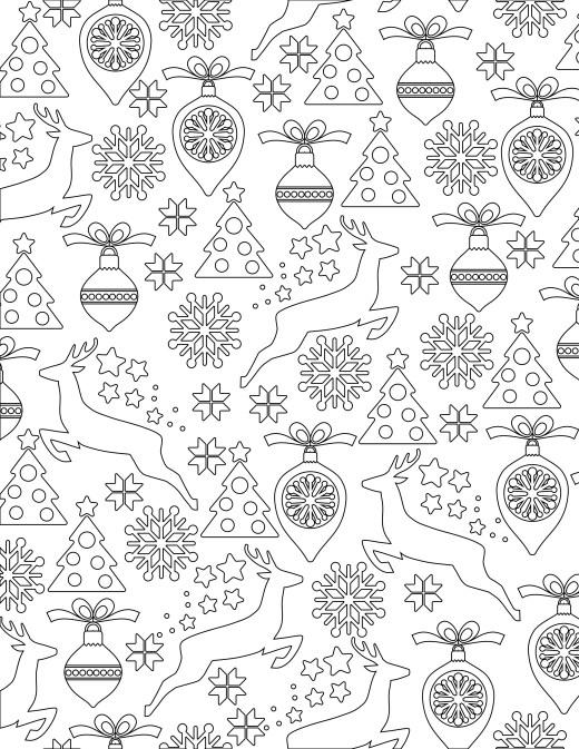 dessin noël coloriage gratuit à imprimer