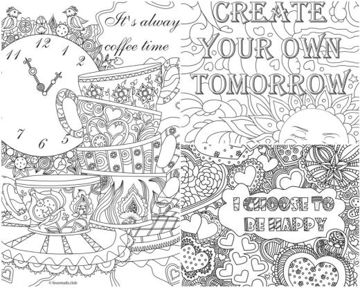 pensée positive à colorier pour adulte