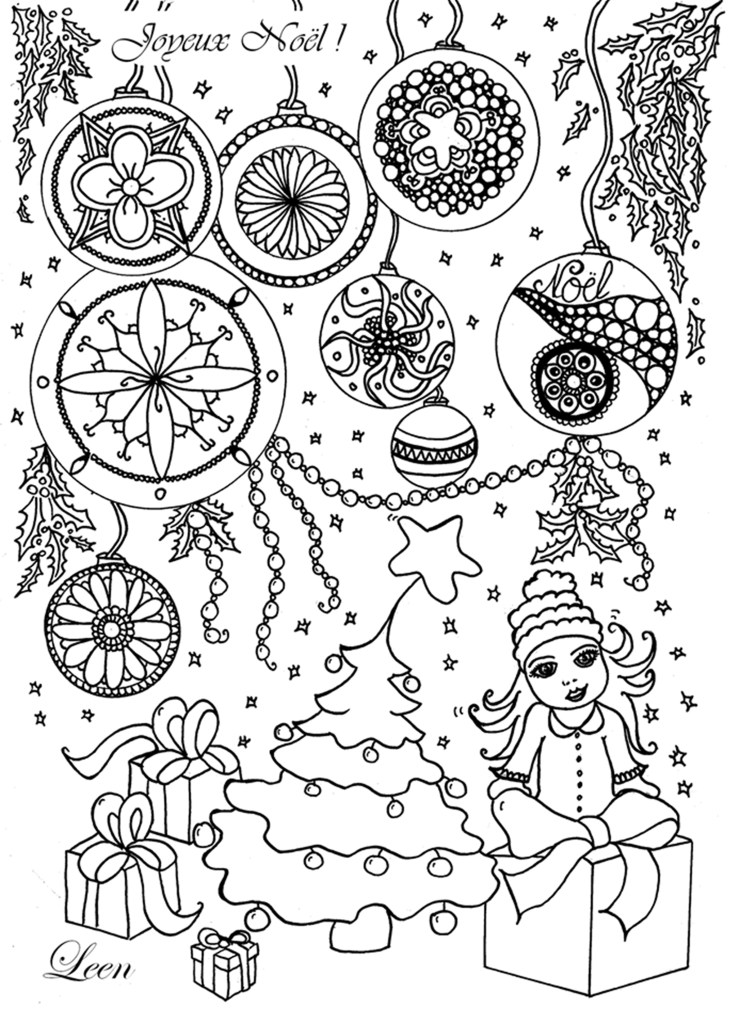Coloriage Joyeux Noël par Leen Margot