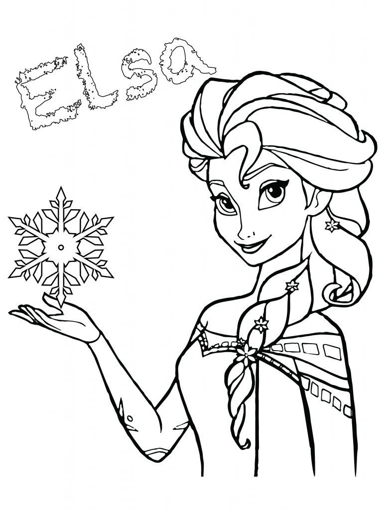 Elsa disney frozen coloriage de princesse gratuit