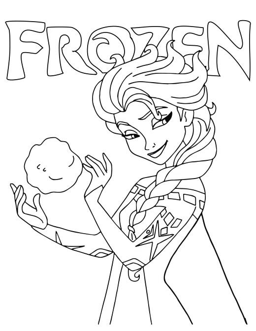 Princesse Elsa disney frozen dessin à imprimer
