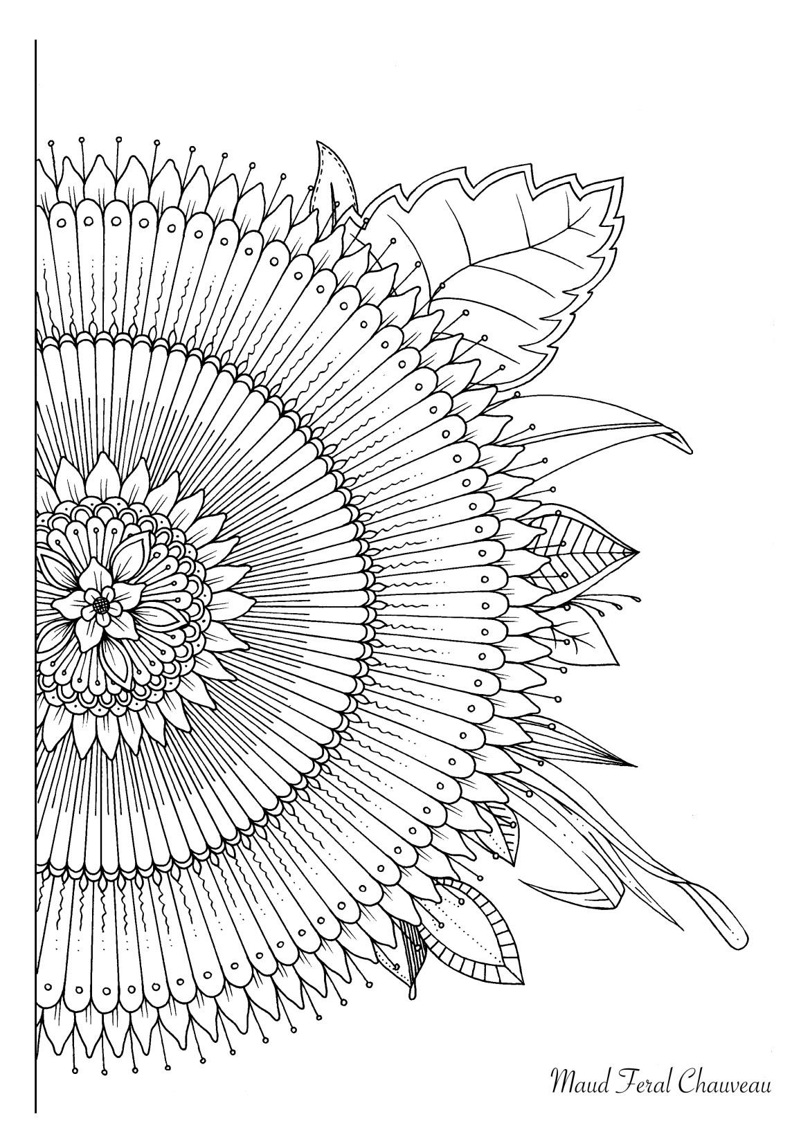 Magnifique mandala fleuri de Maud Feral