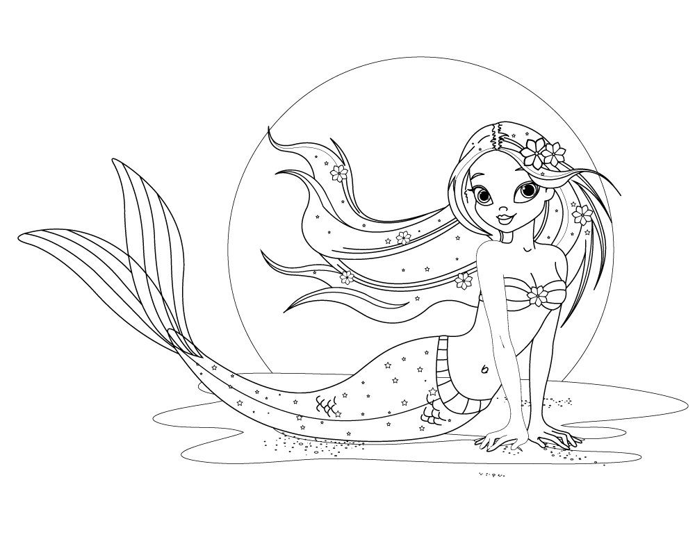 Ariel princesse disney world image à imprimer