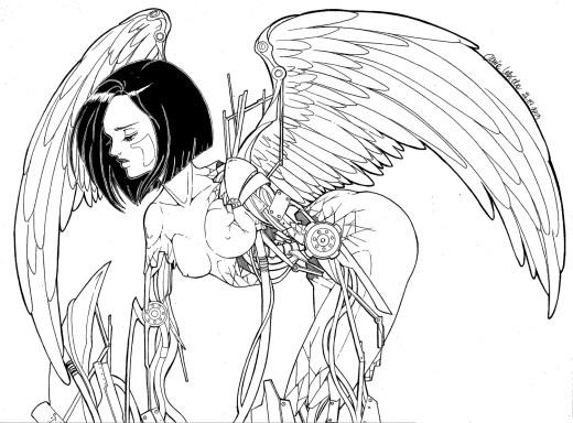 Dessin ange mécanique par Dar-Chan