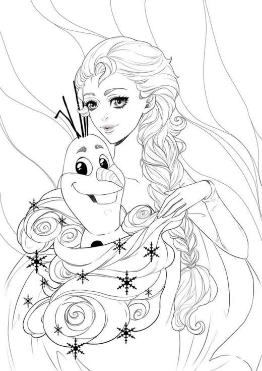 Disney frozen Elsa à imprimer par Dar-Chan
