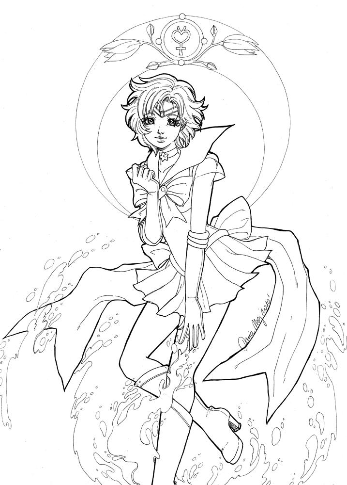 Sailor Mercury dessin par Dar-Chan à imprimer