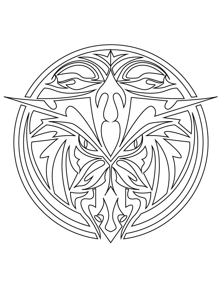 Mandala Animaux Tatouage A Imprimer Artherapie Ca