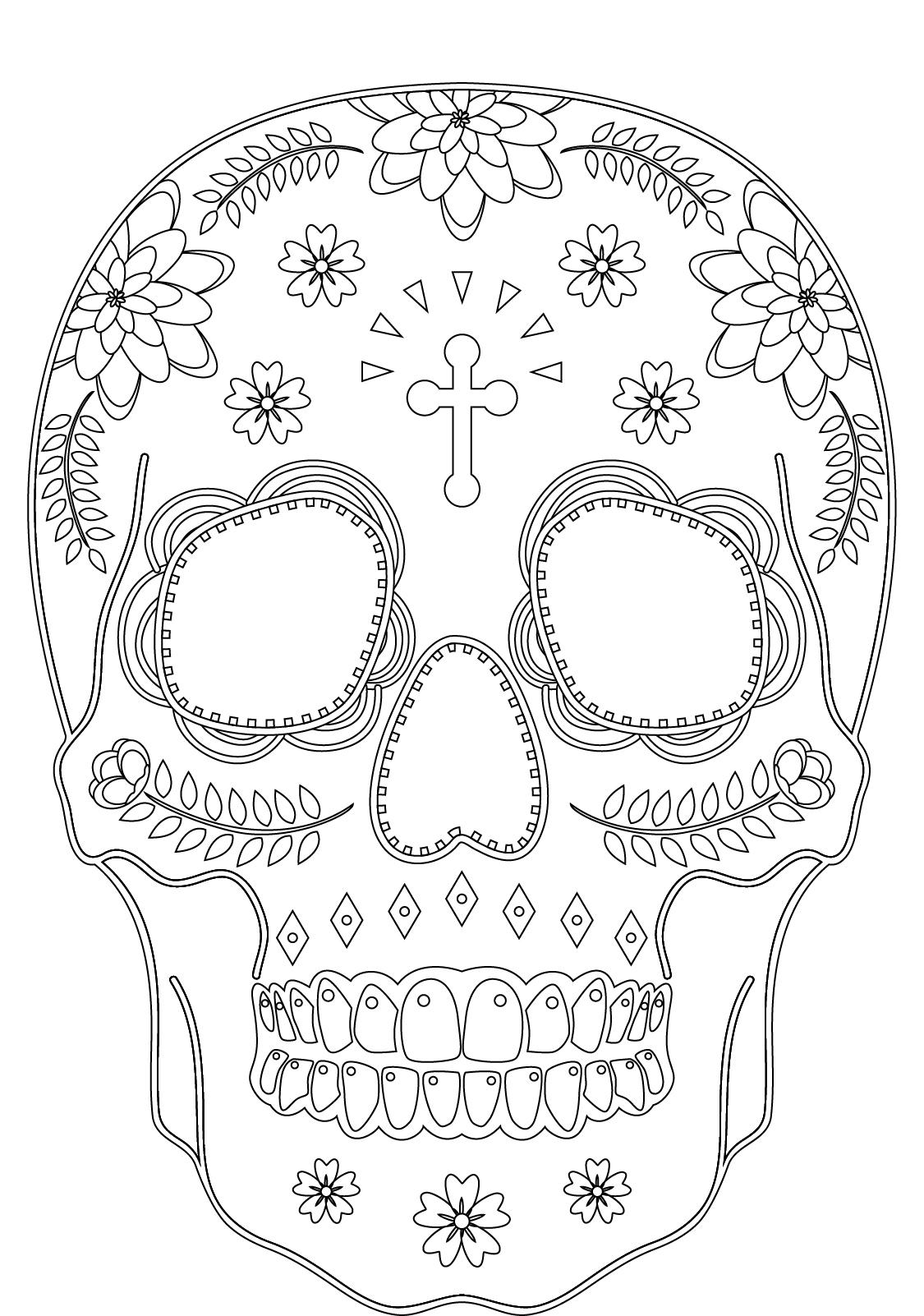 Skull candy pour adulte à imprimer