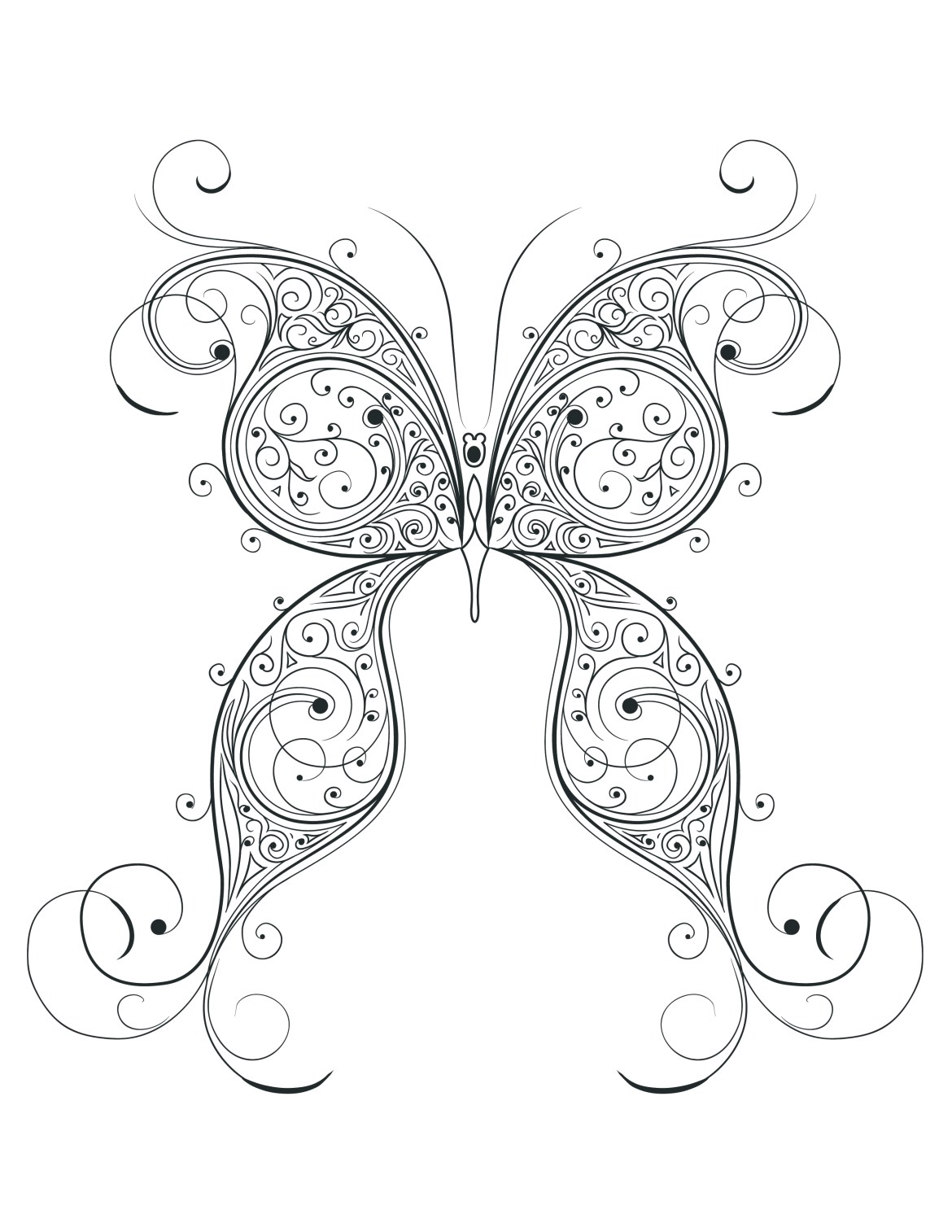 Coloriage Gratuit Nature.Coloriage De La Nature Papillon Doodle Difficile Artherapie Ca