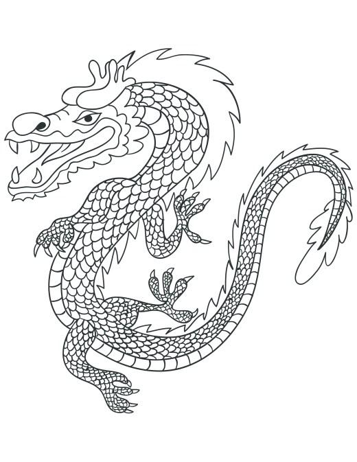Danse dragon chinois coloriage pour adulte