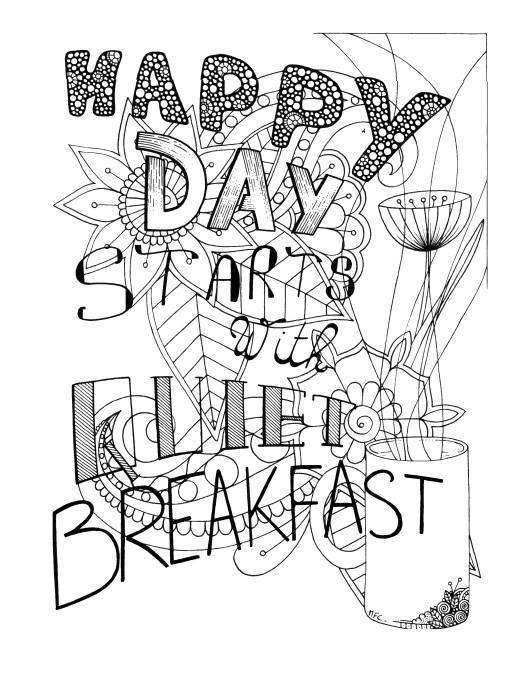 Petit déjeuner à imprimer par Maud Feral