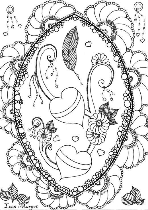 Coeur et plume de Saint valentin par Leen Margot