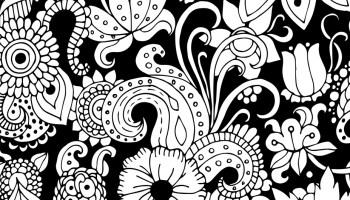 Feuilles Et Fleurs Dessin Adulte Artherapieca