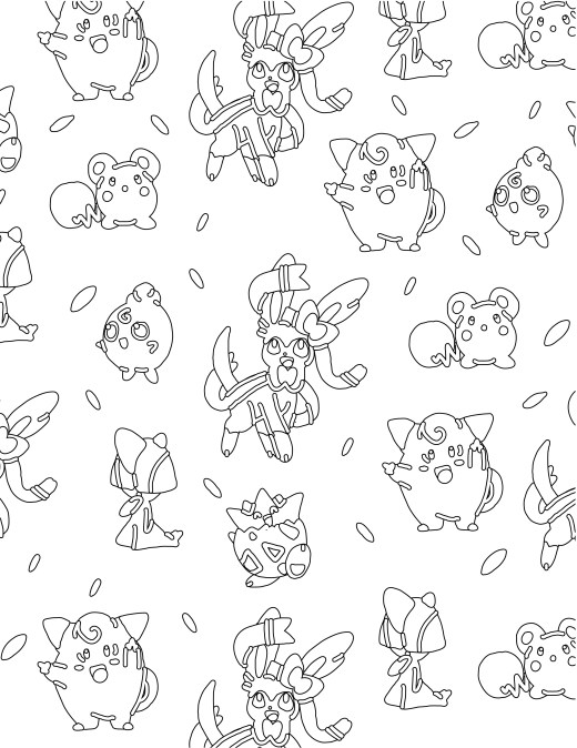 Coloriage pokemon Togepi fairy type