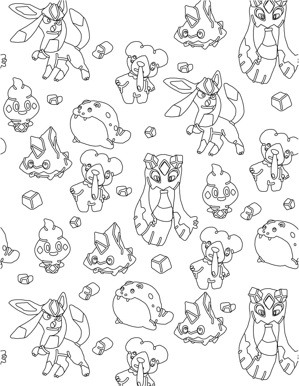 Pokemon Glace A Imprimer Et Colorier Artherapie Ca
