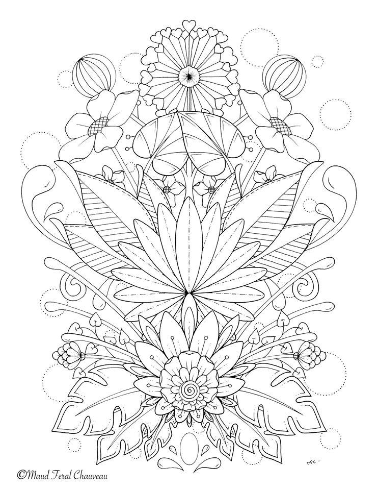 Bouquet de fleurs du printemps par maud feral - Coloriage fleurs et plantes a imprimer ...
