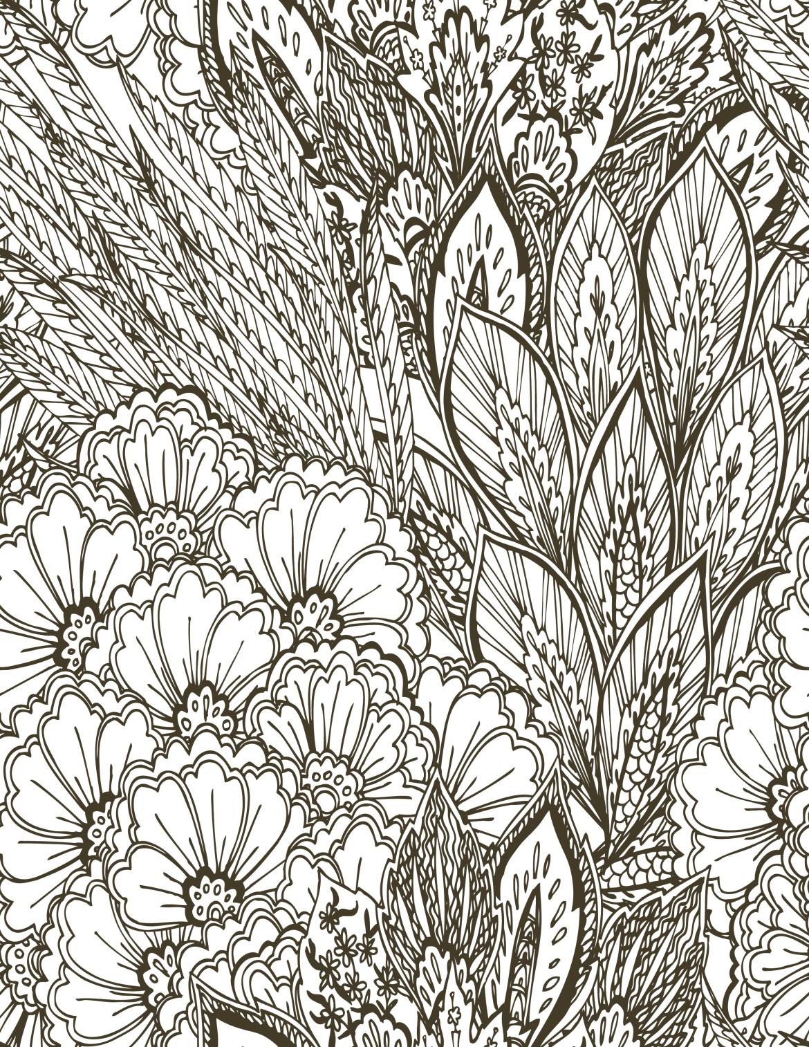 Fleurs sauvages vintage à imprimer et colorier