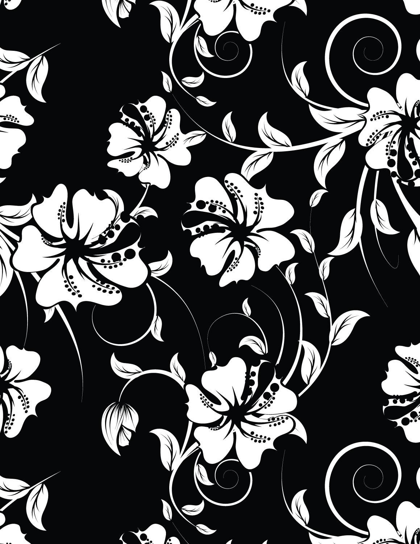 Coloriage hibiscus fond noir imprimer - Dessin fond noir ...