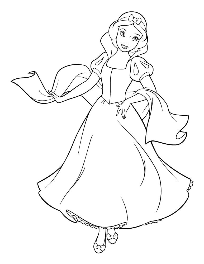 Coloriage De Princesse Blanche Neige A Imprimer.Blanche Neige Princesse Disney A Imprimer Artherapie Ca