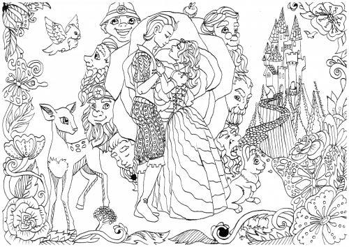 Coloriage A Imprimer Princesse Blanche Neige Artherapie Ca