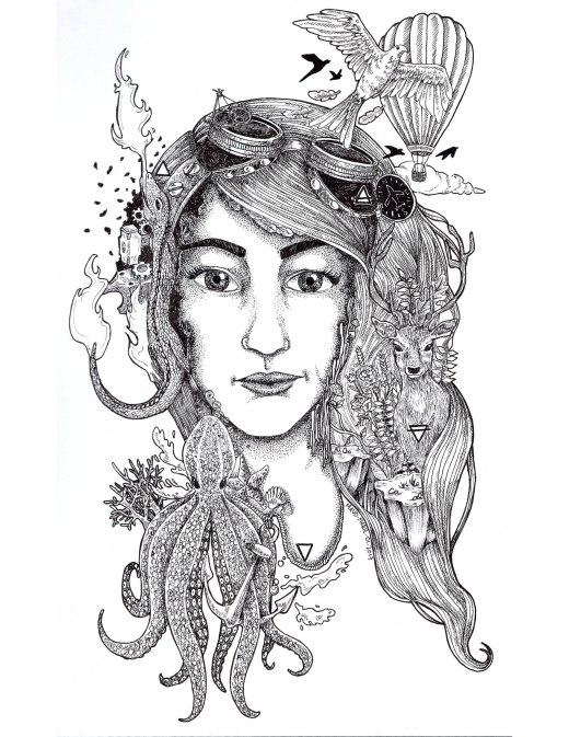 4 éléments dans ma tête par Maud-Marie