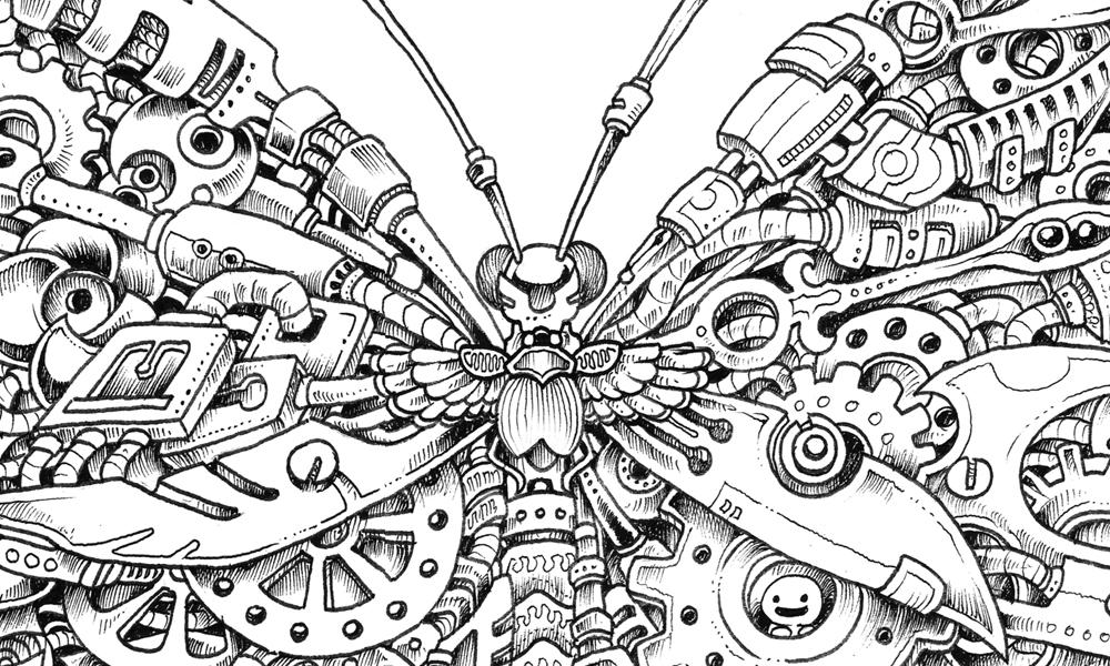 Papillon mécanique de Imagimorphia par Kerby Rosanes