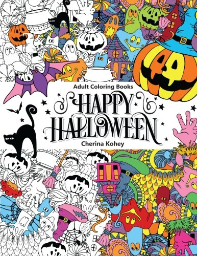 Critique du livre de coloriage Happy Halloween par Cherina Kohey