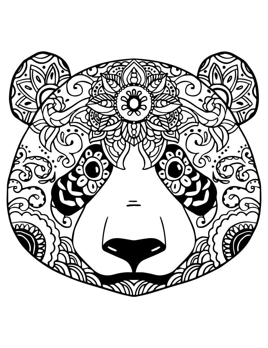 Coloriage De Animaux Panda à Imprimer Par Chocobo Artherapie Ca