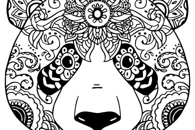 coloriage gratuit adorable panda colorier