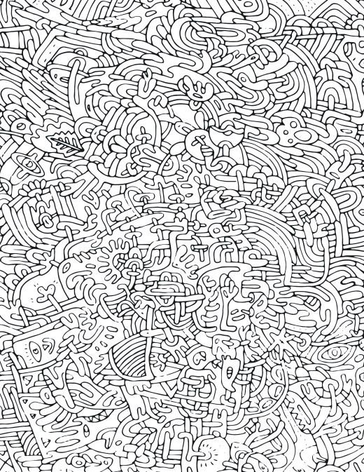 Page de coloriage pour adulte pattern très difficile