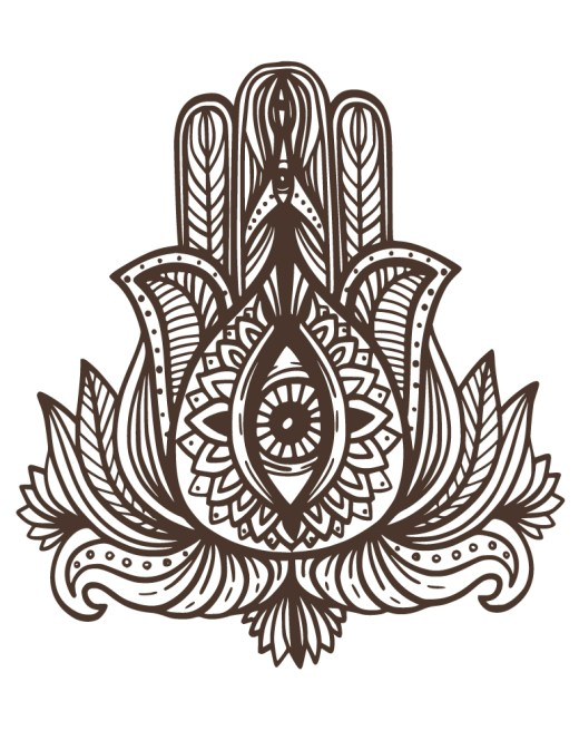 Tattoo henna indien dessin à colorier pour adulte
