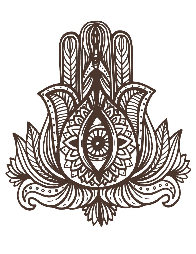Dessin Pour Henné tattoo henna indien dessin à colorier pour adulte - artherapie.ca