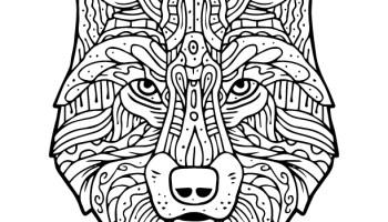 Coloriage Animaux Totem.Loup Animal Totem Amerindien A Colorier Artherapie Ca