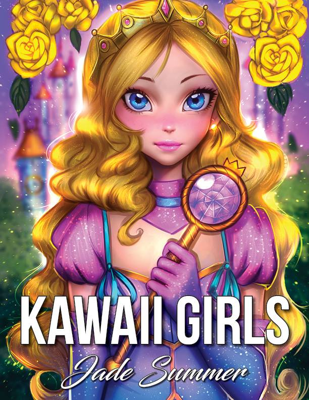 Kawaii girls coloriage à imprimer par Jade Summer