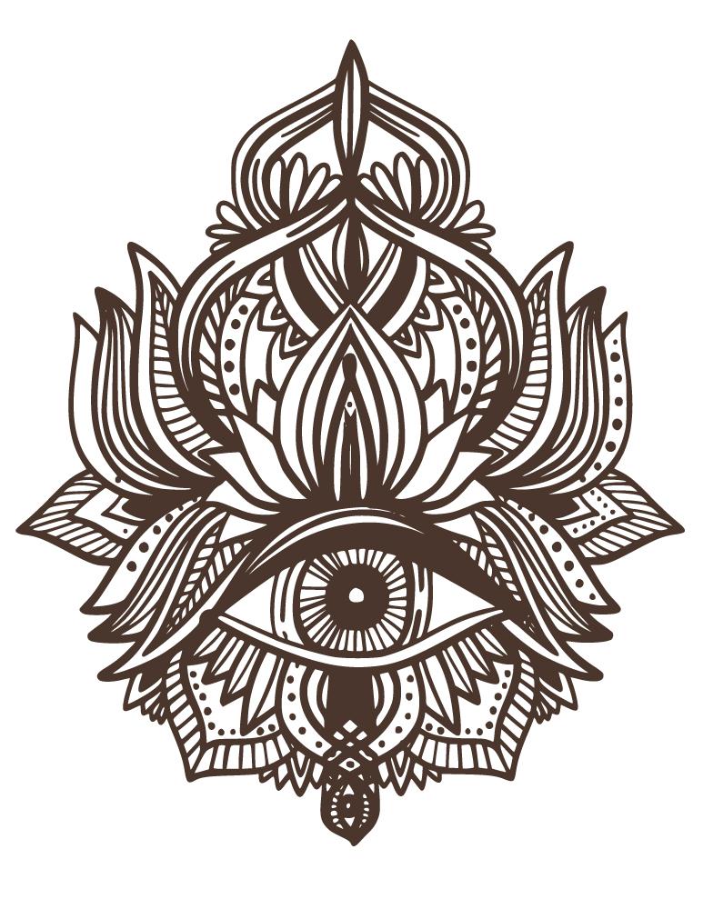 Tattoo henna indien oeil sagesse artherapie gratuit