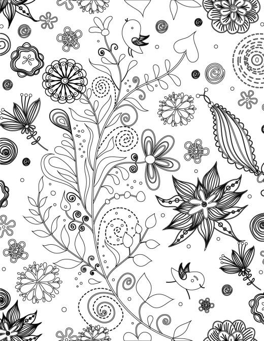 Doodle artherapie plantes très difficile à imprimer