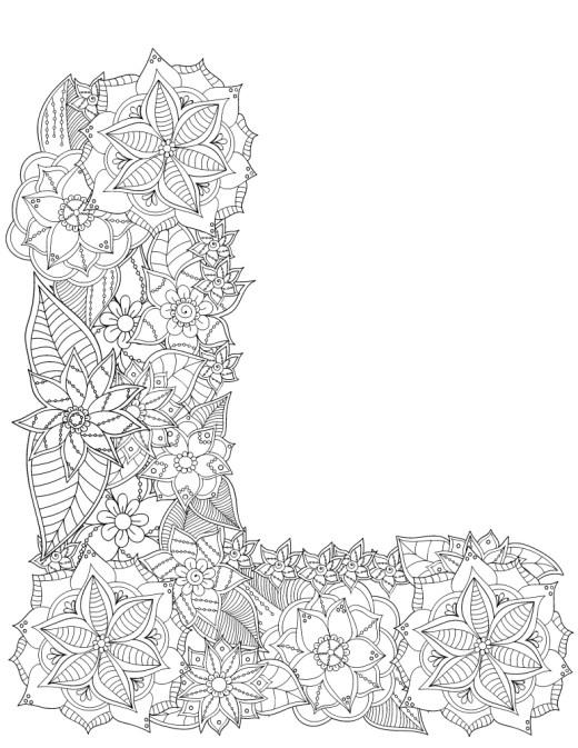 Lettre L fleurs alphabet rigolo gratuit imprimer