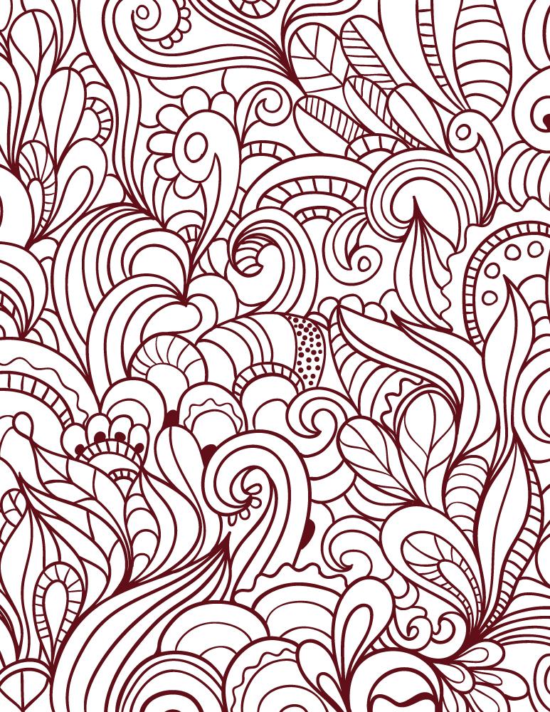 Zendoodle plantes simple à imprimer et dessiner