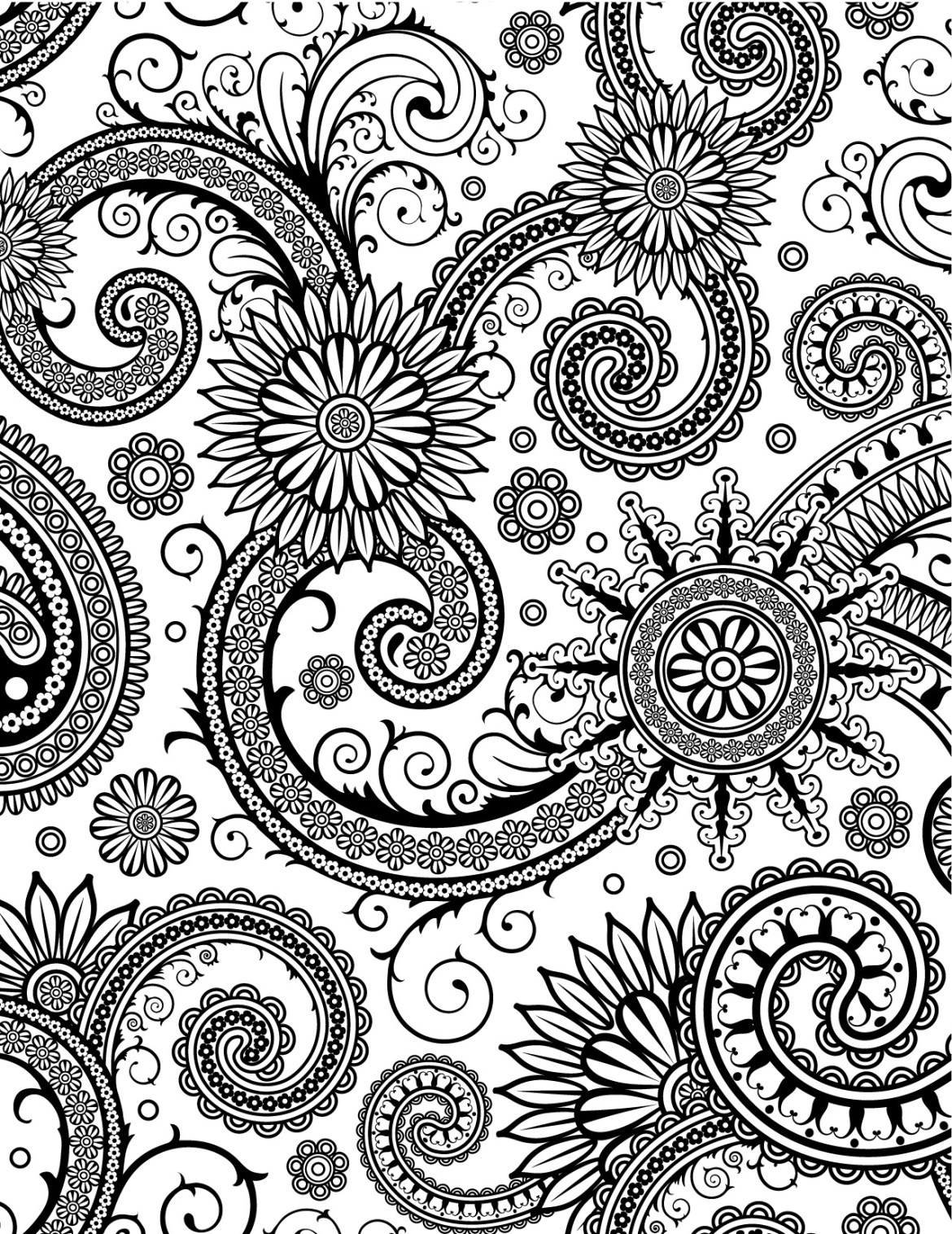 Très difficile pattern zendoodle délicats à colorier gratuit