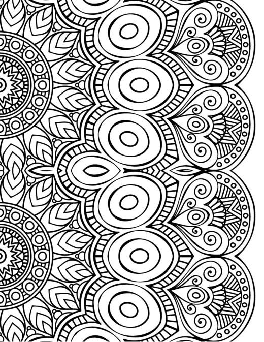 Dessin a imprimer de mandala à colorier gratuit