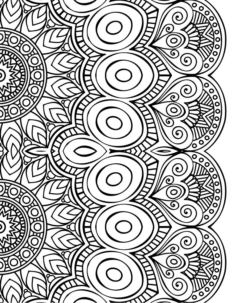 Dessin a imprimer de mandala à colorier gratuit - Artherapie.ca