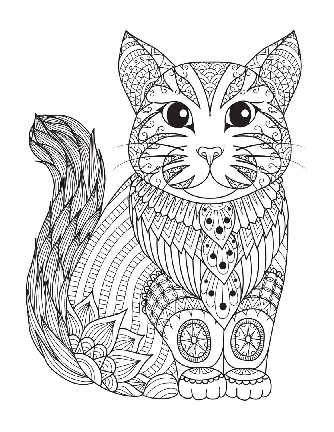 Chat coloriage pour adulte imprimer par bimbimkha - Chat a colorier adulte ...