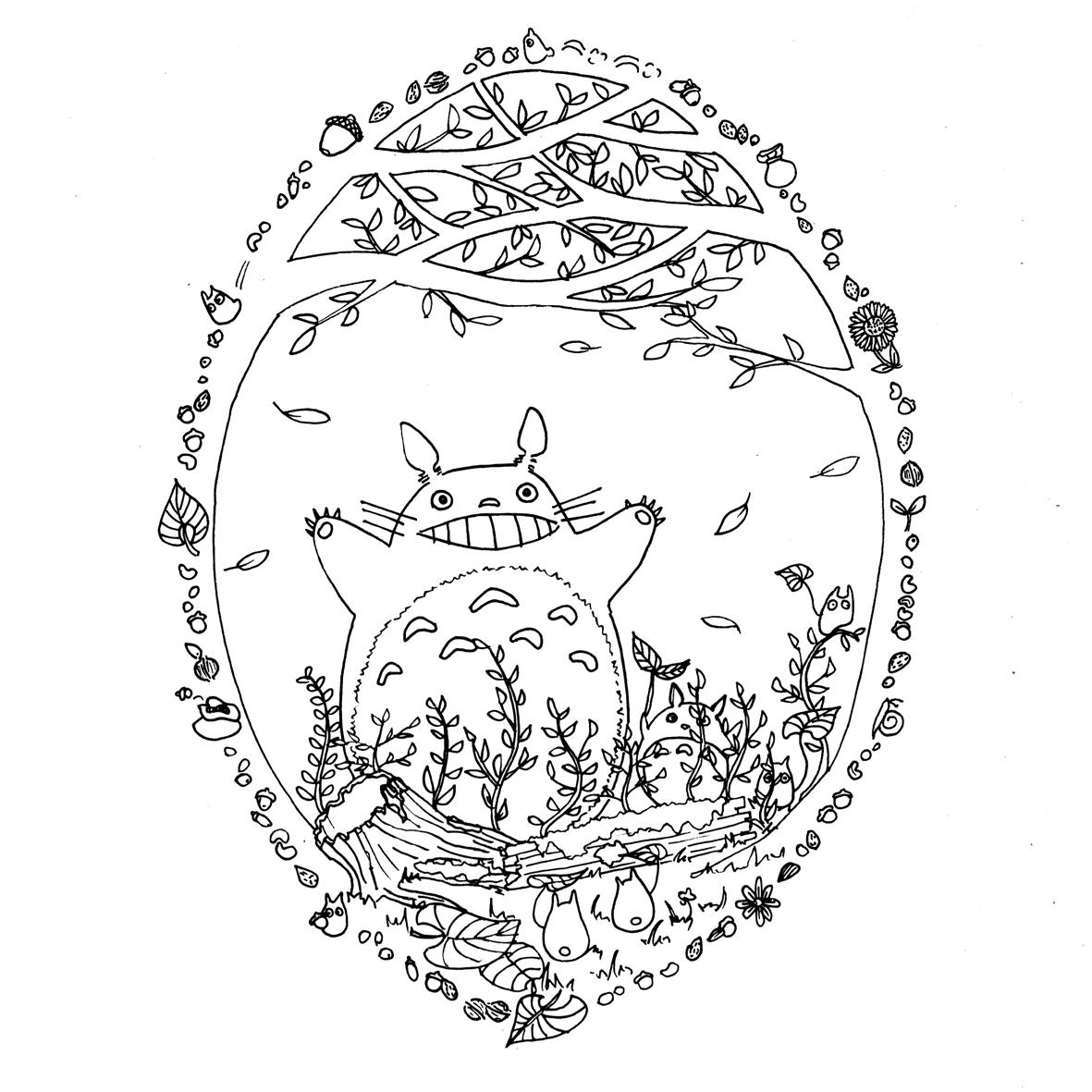 Site pour imprimer des coloriages Totoro par Chocobo ...