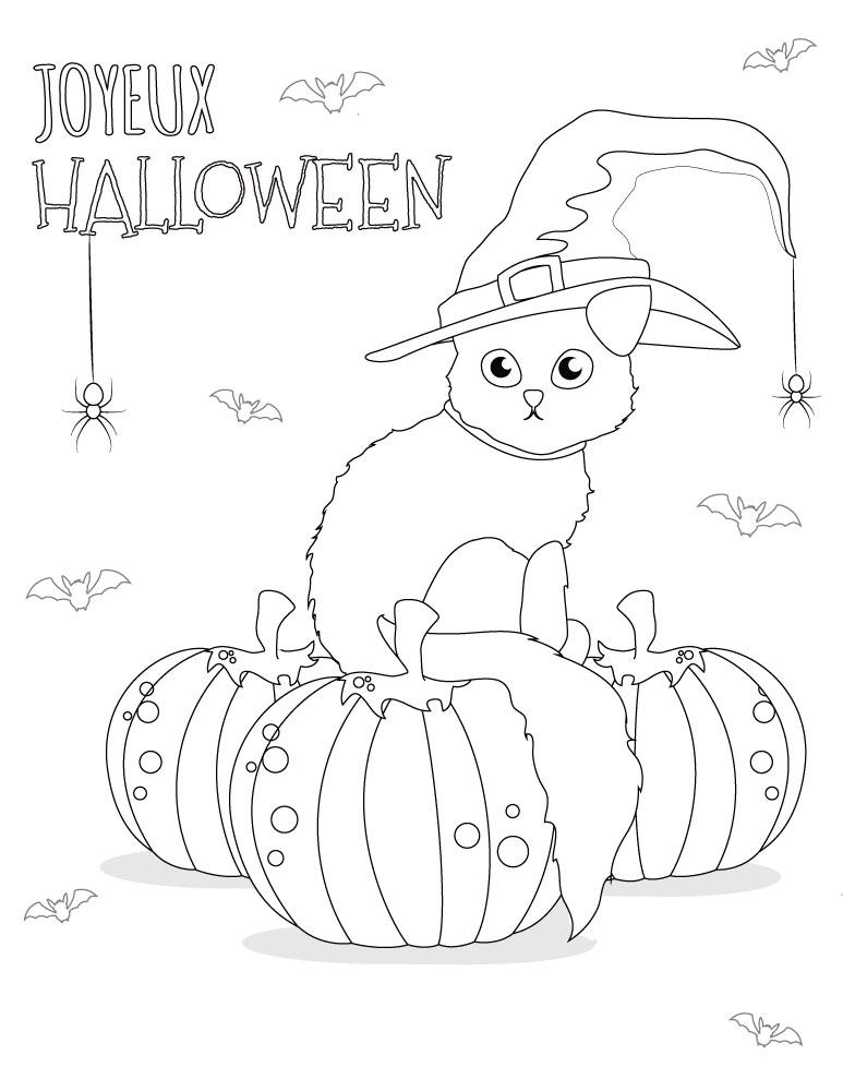 Dessin Coloriage Chat Gratuit.Coloriage Chat Dessins Halloween Imprimer Gratuit Artherapie Ca