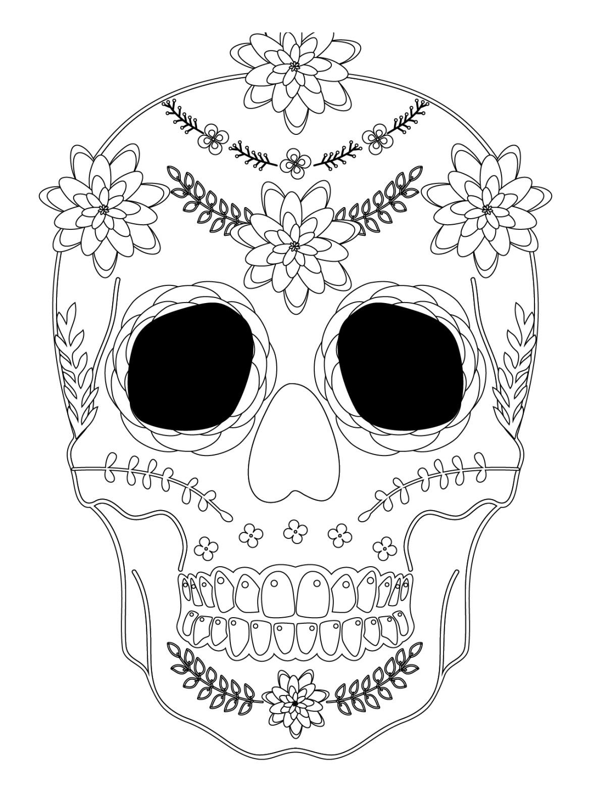 Sugar skull coloriage halloween a imprimer qui fait peur - Dessin halloween a imprimer qui fait peur ...